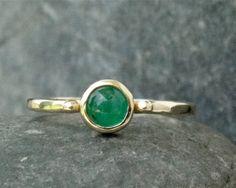 Emerald ring emerald jewelry gold emerald ring by VakaStudio