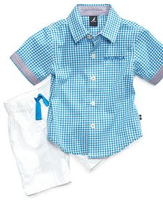 Nautica Baby Set, Baby Boys Button Front Shirt and Twill Shorts Set - Kids Baby Boy (0-24 months) - Macy's
