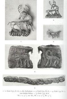 "C Birka, Sweden. That is one cutie silver ""fox""… Viking Garb, Viking Reenactment, Viking Dress, Viking Costume, Viking Clothing, Viking Jewelry, Ancient Jewelry, Norwegian Vikings, Medieval Embroidery"
