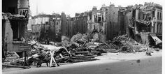 Sutherland Terrace, Pimlico, the morning after it was hit by two German parachute mines and three high explosive bombs, April 17 1941.