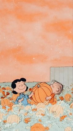 peanuts pumpkin aesthetic wallpaper