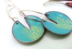 Maine-made Enameled Nature Inspired Earrings