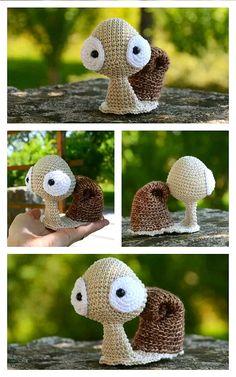 Diy Crochet Animals, Crochet Snail, Crochet Fairy, Kawaii Crochet, Crochet Animal Amigurumi, Crochet Amigurumi Free Patterns, Crochet Teddy, Crochet Animal Patterns, Crochet Bear