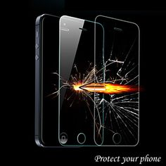 Clear Explosion Proof Premium Tempered Glass Film Guard Screen Protector For iPhone 4s 5s 6s plus / Galaxy S5 Note 4 S3 S4 mini