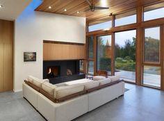 Stûv 21/85 SF Fireplace  Architecture by Superkül http://superkul.ca/  Photography by Shai Gil