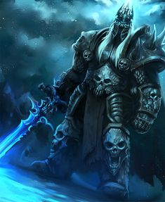 Lich king by jang ju hyeon on ArtStation. Warcraft Dota, Arthas Menethil, Blizzard Warcraft, Death Knight, Undead Knight, Lich King, The Black Cauldron, Man Of War, Fanart
