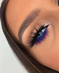 Makeup Eye Looks, Eye Makeup Art, Eye Makeup Remover, Eyeshadow Looks, Skin Makeup, Eyeshadow Makeup, Beauty Makeup, Pop Of Color Eyeshadow, Dramatic Eyeshadow