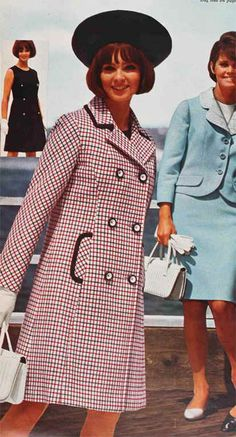 1966 - Like the hat, and I remember making the double-breasted coat dress and having to match the plaids, make the button holes in Home Ec.  Do girls still take Home Ec classes?