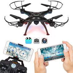 4CH 6-Axis FPV RC Drone Quadcopter Wifi Camera Real Time Video 2 Control Modes #electronic #hobbies #toys #battery #wind #cameras #interactive #modes #control #wifi #quadcopter #drone #camera #real #video #time #axis