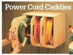 Power Cord Organizer Plan/Power Cord Caddy Plan/Electrical | Etsy