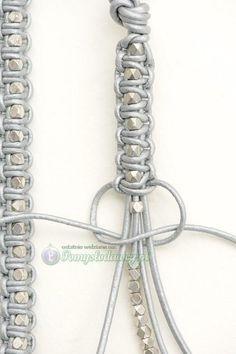 Make Your Own Jewelry Cord Bracelets Diy Accessories Diy Art Hemp Jewelry Diy Jewelry Jewelery Macrame Colar Bracelet Tutorial Bracelet En Cuir Diy, Leather Bracelet Tutorial, Bracelet Box, Leather Tutorial, Bracelet Charms, Macrame Bracelet Tutorial, Shambala Bracelet, Macrame Bracelet Patterns, Bracelet Display