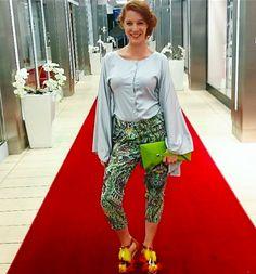 blouse, trouses, purse Parazit Fashion shop Prague shoes La Mode de Boheme  hair FranckProvost