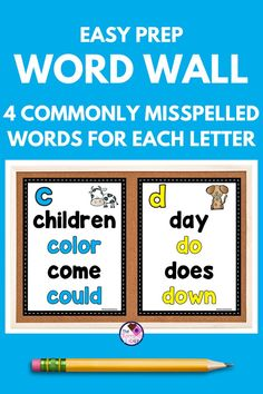 Grammar Activities, Sight Word Activities, Personal Dictionary, Commonly Misspelled Words, Learning Sight Words, Guided Reading Groups, Creative Curriculum, High Frequency Words, Simple Words
