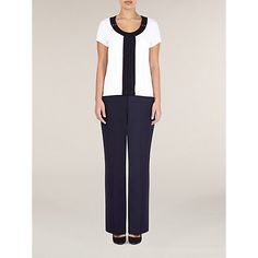 Buy Precis Petite Button Pleat Top, White from our Women's Shirts & Tops range at John Lewis & Partners. Office Looks, Tailored Trousers, Work Wear, Dresses For Work, Buttons, Shirts, Stuff To Buy, Tops, Women