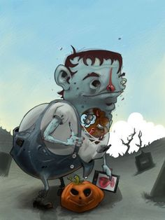 Picture of Zombie Painted in Sketchbook Pro on the iPad