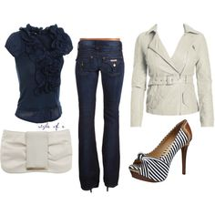 Navy, created by styleofe on Polyvore