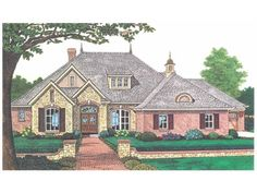 French Country House Plan with 2260 Square Feet and 3 Bedrooms from Dream Home Source | House Plan Code DHSW55028