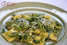 Mario Batali's Pasta Primavera Mascarpone Ravioli #TheChew