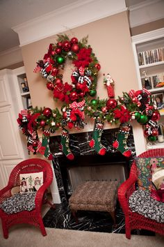 Christmas Mantle-Have a Holly Jolly Christmas Blog