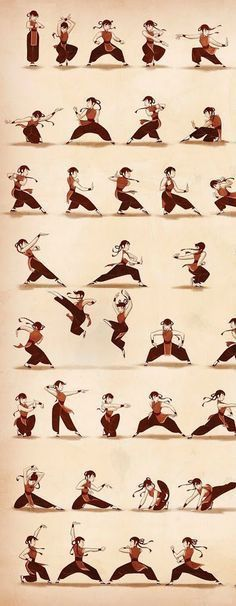 These are actual martial arts forms, I remember learning them