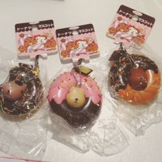 Rare Kapibarasans in Ring Donut squishies.