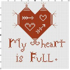 My Heart Is Full ~ Free pattern for you! - ~ Samplermakers ~
