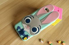Iphone 6s Case, Iphone 6 Case, Cute Bunny Rabbit Judy Hopps Police Zootopia Zootropolis Utopia Animals Creative Cartoon 3D Soft Gel Rubber Silicone Case for Iphone 6 / 6s ( Rabbits )