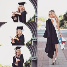 Graduation & Prom Dresses - fascinating colours and styles Graduation Picture Poses, College Graduation Pictures, Nursing School Graduation, Graduation Portraits, Graduation Photoshoot, Graduation Photography, Grad Pics, Graduation Ideas, Grad Pictures