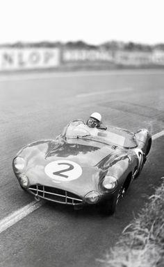 Swirling Moss and Aston Martin