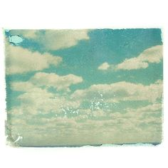 Clouds by Matt Schwartz is a fun print that has a vintage feel and does a good job of opening up a room.