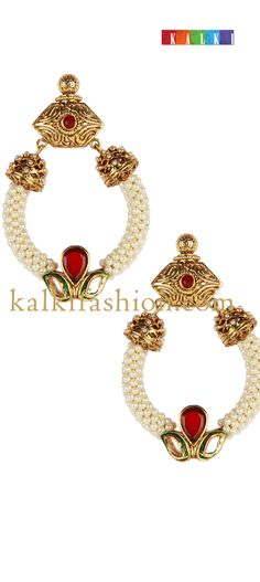 Buy it now http://www.kalkifashion.com/traditional-earings-in-pearls.html  Traditional earings in pearls