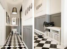 Pasillo damero #pasillos #Hallways #design