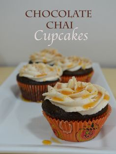 Small Batch of Chocolate and Chai cupcakes!