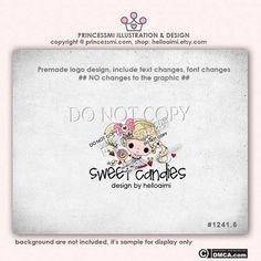 Custom Premade GIRL Logo Design doll logo template by helloaimi