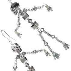 These dramatic crystal skeleton earrings are a show stopping accessory that are as fun to make as they are to wear.