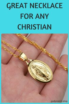 Virgin Mary necklace - Praise the Virgin Mary with this beautiful pendant necklace! Show your love for mother of God with style.  #virginmarynecklace #virginmarypendant #mothermary #christianjewelry
