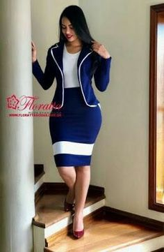 Floratta Modas - Moda Evangélica - A Loja da Mulher Virtuosa Mode Outfits, Skirt Outfits, Chic Outfits, Fashion Outfits, Classy Work Outfits, Classy Dress, Work Fashion, Fashion Looks, Corporate Attire