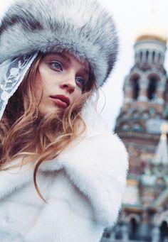 Kim Noorda in 'White Russian' by Yelena Yemchuk for Vogue Japan, November 2005.
