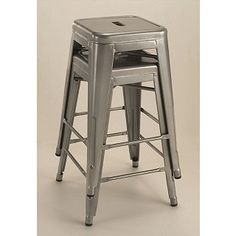 If you need bar stools, these are fantastic. Tabouret 24-inch Metal Counter Stools (Set of 2) $75 | Overstock.com
