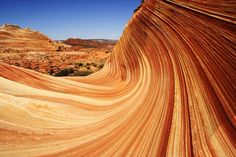 This incredible formation of sandstone rock is stunning in its colors. Formed from Jurassic era sandstone (about 190 million years old), researchers say that sand dunes compacted and hardened, with erosion now forming the wavelike lines and shapes in the structure. Like a painting, everywhere you look there are new and amazing shapes to stun the eye    Read Full Article At: http://www.mediadump.com/hosted-id186-most-fascinating-geological-wonders-on-earth.html#ixzz1acKEedNV