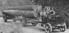 I have enjoyed looking at old logging photos for as long as I can remember. I guess it's because my Grandpa was a logger, my Dad was a logger and I was a logger. I will never forget being six years old and getting my first ride on a John Deere skidder. Antique Trucks, Vintage Trucks, Old Trucks, Giant Sequoia Trees, Timber Logs, Tonka Toys, Thing 1, Oregon Travel, Rubber Tires