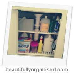 Beautifully Organised: How to organise your laundry sink cupboard. Yes please.