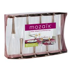 Sabert® Moza®K™ Champagne Flutes - 8 ct By Mozaik Factory Direct Crafts, Plastic Dinnerware, Plastic Ware, Champagne Glasses, Craft Sale, Kitchen Utensils, Kitchen And Bath, Craft Supplies, Entertaining