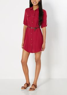 Rue21 Belted Chiffon Shirt Dress Found on my new favorite app Dote Shopping #DoteApp #Shopping