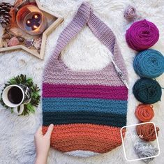 Bag Crochet, All Free Crochet, Crochet Poncho, Crochet Purses, Crochet Hooks, Crochet Baskets, Beginner Crochet, Ravelry, Orange Braun