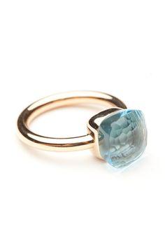 Pomellato Blue Topaz Nudo Ring by Pomellato  from Amanda Pinson Jewelry