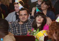 It's been about a year since Nick (Jake Johnson) swooped in and kissed Jess (Zooey Deschanel) last season on New Girl, and it's time to take stock of their New Girl Series, New Girl Tv Show, Tv Series, Fox New Girl, New Girl Pic, Girl Pics, Jessica Day, New Girl Season 3, New Girl Nick And Jess