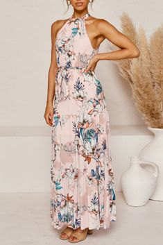 Check the latest chic styles of 2020 floral summer dress of Print Dresses from Women, Fashion printing leak back big swing lace dress Floral Print Maxi Dress, Lace Dress, Vacation Style, Your Style, Backless, Floral Prints, Printing, Summer Dresses, Chic