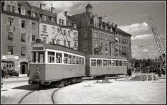 Tram Line 22 at Harras 1953