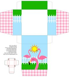 Don't Eat the Paste: Pink Flamingo Printable Box {EDL}